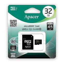 志達電子 AP32GMCSH10U1 宇瞻科技 Apacer Micro SD 32GB UHS-I Class10  記憶卡 附轉卡