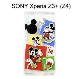 利奇通訊 迪士尼透明軟殼 [人物] 米奇 SONY Xperia Z3+ /  Z3 Plus (Z4)【Disney正版授權】