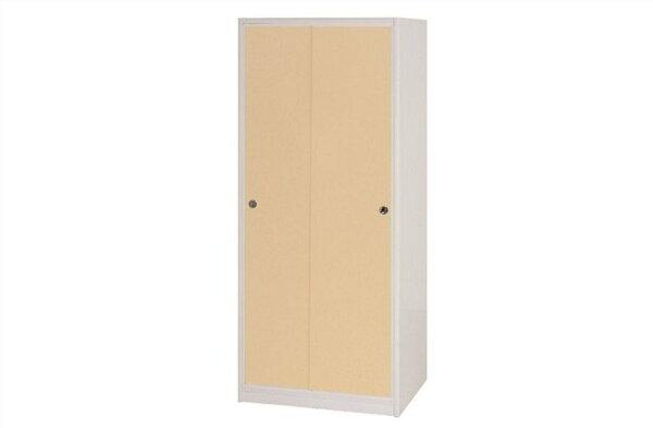 【石川家居】831-05(鵝黃白色)拉門衣櫥(CT-114)#訂製預購款式#環保塑鋼P無毒防霉易清潔