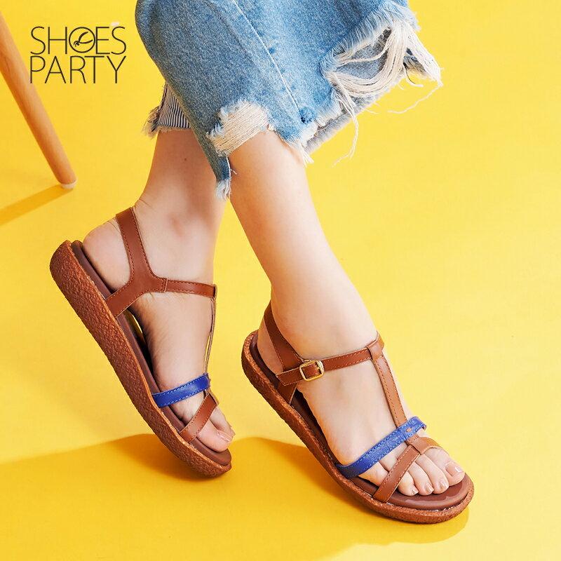 【S2-17622L】Simple+久走不累撞色系帶涼鞋_Shoes Party 2