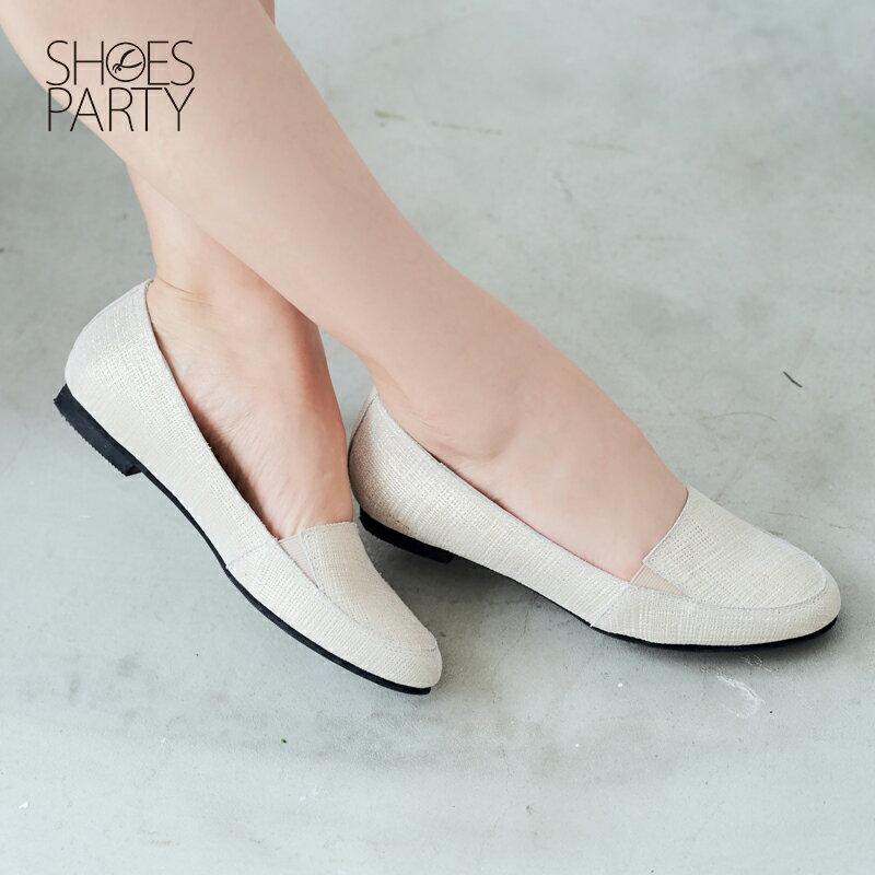 【 C2-17315L】真皮鬆緊帶歐貝拉_Shoes Party 2