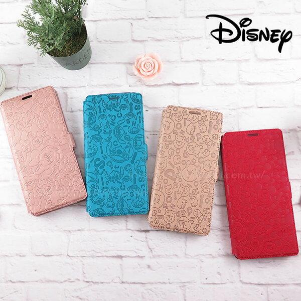 Miravivi:Disney迪士尼SamsungGalaxyNote8經典滿版壓紋皮套