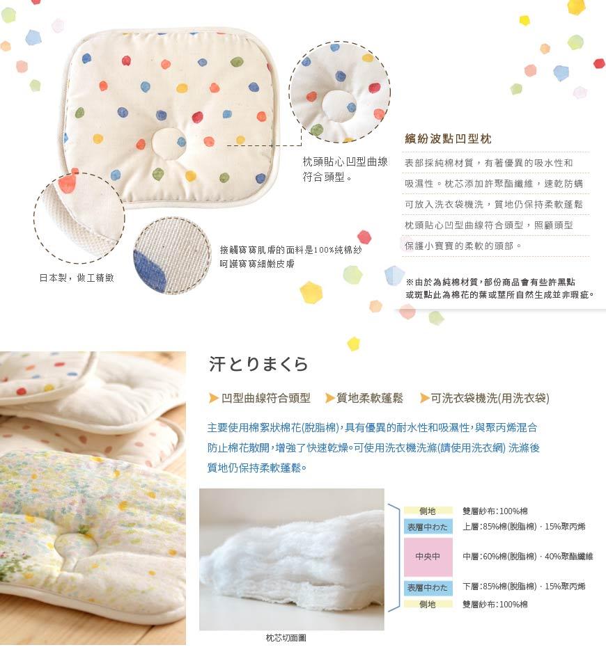 Hoppetta - Naomi Ito - 繽紛波點凹型枕 2