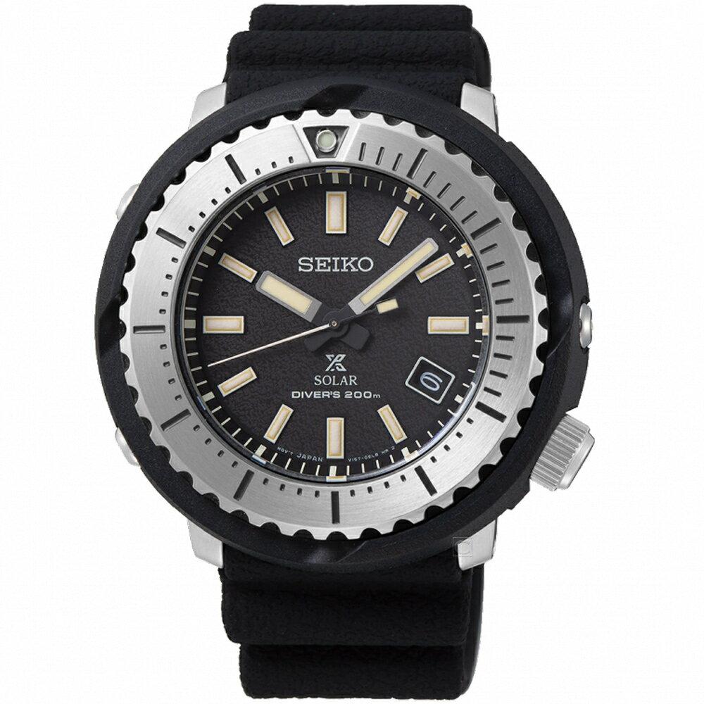 寶時鐘錶 SEIKO精工PROSPEX STREET小鮪魚太陽能潛水錶 V157-0DD0D SNE541P1