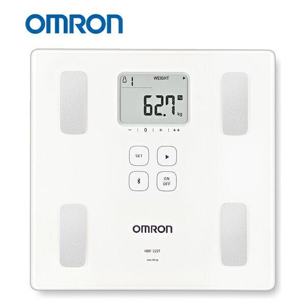 【歐姆龍OMRON】藍牙體重體脂肪計 HBF-222T,贈品:純棉運動毛巾x1