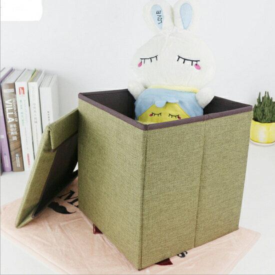 ♚MYCOLOR♚帶蓋素色可折疊收納箱收納凳方形儲物簡約家具置物玩具凳【E91】