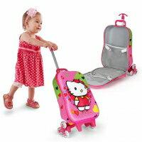 【ChenWorld】Kitty兒童爬樓梯書包(旅行箱 拉桿書包 三輪女童箱包)