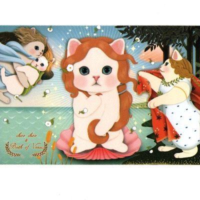 JETOY,Choo Choo 甜蜜貓第二代明信片_Venus~快樂生活網