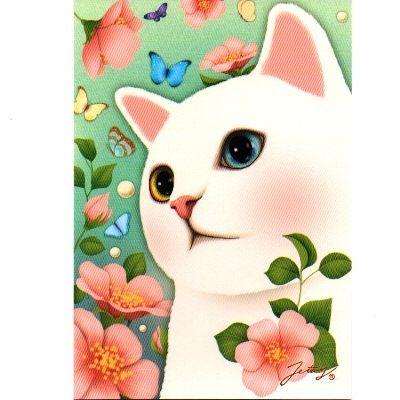 JETOY,Choo Choo 甜蜜貓第二代明信片 Vintage flower~快樂生活網
