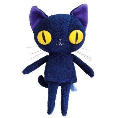 絨毛娃娃玩具 BLUE WORLD ,日本藍貓絨毛紓壓玩偶(14CM) Blue~快樂生活網