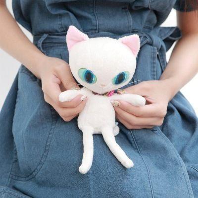 BLUE WORLD ,日本藍貓絨毛紓壓玩偶(14CM) White~快樂生活網