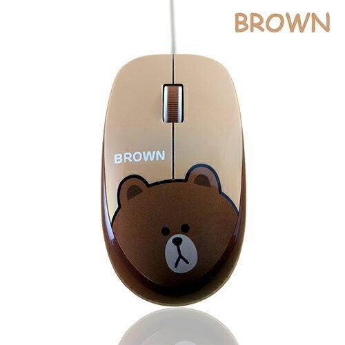 【免運】Line 熊大有線滑鼠 可愛滑鼠 電腦 辦公【SV7087】快樂生活網 - 限時優惠好康折扣