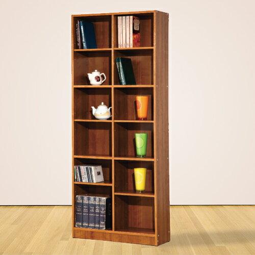 台灣製 小田原十二格書櫃 置物櫃 書櫃 展示架 展示櫃 收納櫃《YV8623》快樂生活網