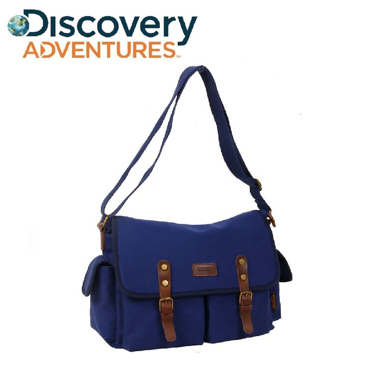 <br/><br/> Discovery Adventures 復古系列 時尚簡約 郵差包 男側斜背包【YV8706】快樂生活網<br/><br/>
