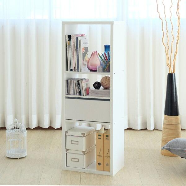 快樂生活網:台灣製布拉格3格收納系統櫃雪白色書櫃展示架展示櫃收納櫃電視櫃【YV9189】HappyLife
