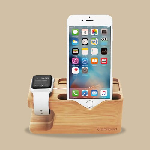 韓國 環保木質手機支架 iPhone Apple Watch Spigen S370 ~S