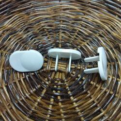 2孔電源插座保護蓋 / 2腳 防觸電 安全插座插頭插孔 電源保護蓋 嬰兒 寶寶 幼兒 居家安全 防護用品