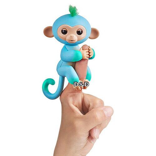 【Fingerlings】互動寵物猴-時尚撞色版手指猴(藍綠)