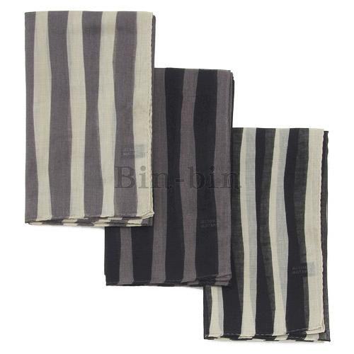 保野溫子 紗布條紋圍巾 705~859