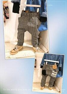 花妍蕎宇:【花妍蕎宇】口袋英文格子休閒褲