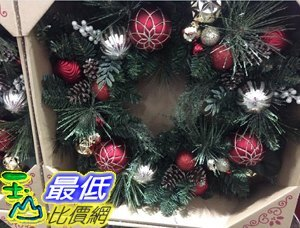 [COSCO代購] C1456851 BEAUMONT 30 INCH DECORATED WREATH 30吋聖誕裝飾花環