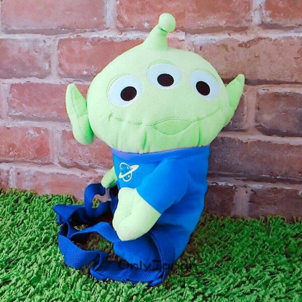 【真愛日本】14080200003絨毛造型後背包-三眼怪迪士尼玩具總動員三眼怪後背包小物收納日本限定