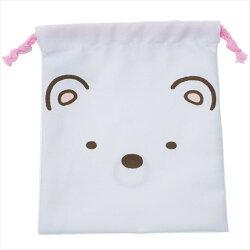 大賀屋 日貨 角落生物 白熊 束口袋 收納袋 束口 袋子 化妝袋 角落小夥伴 San-x 正版授權 J00015632