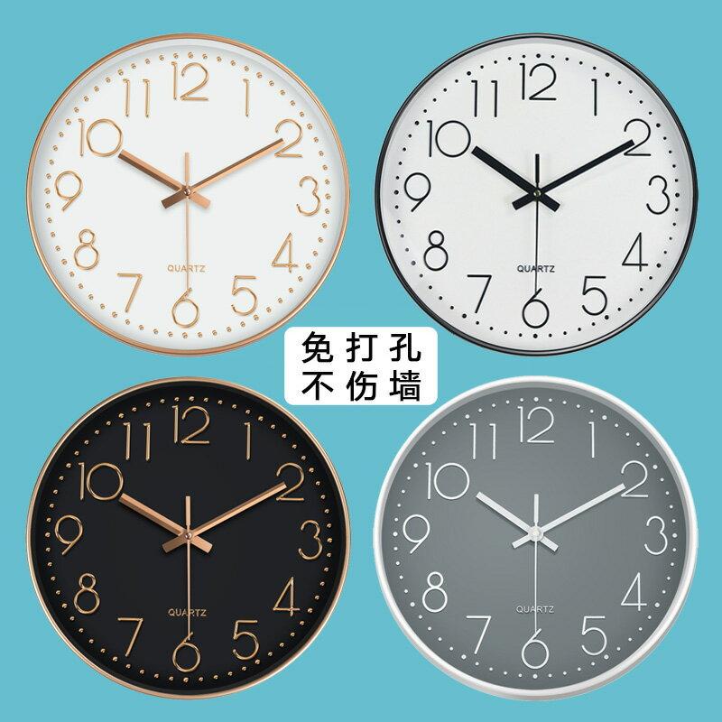 鐘錶掛鐘客廳現代簡約大氣創意靜音家用時尚北歐石英鐘臥室掛錶
