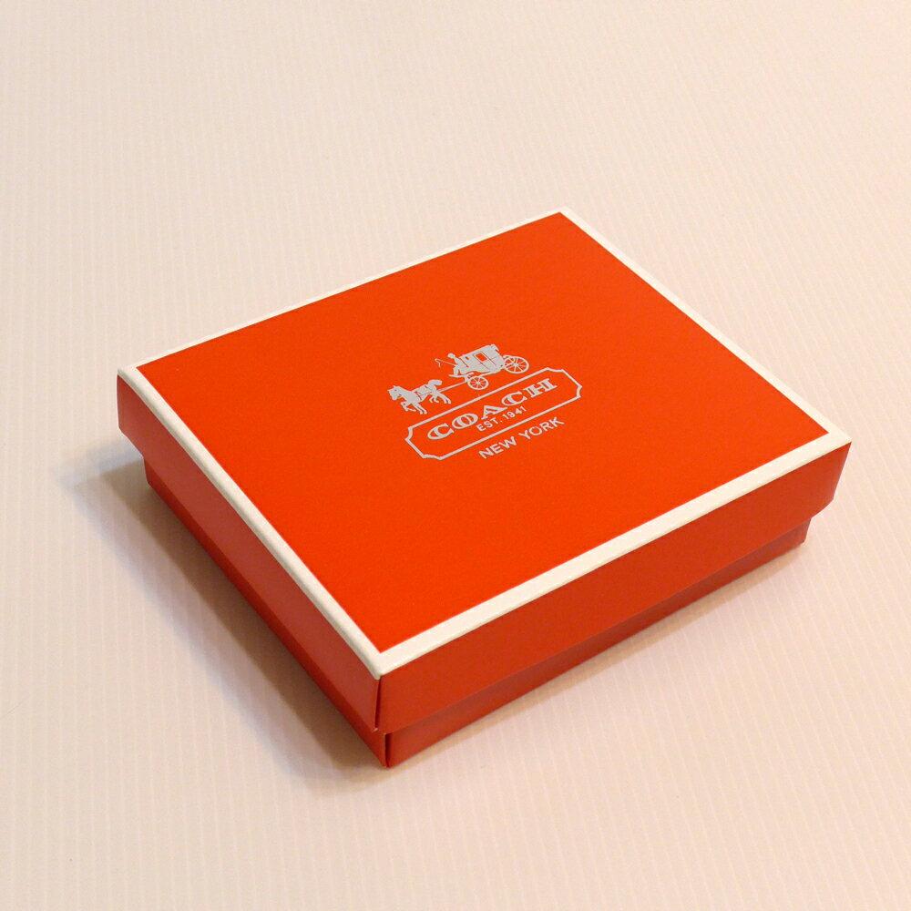 COACH短夾紙盒--橘紅色S