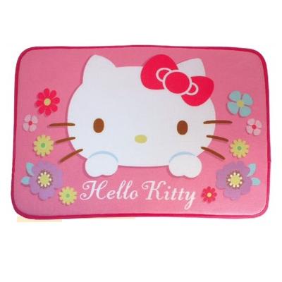 【真愛日本】 17101400007 地墊-KT繽紛絨毛粉 三麗鷗 kitty 凱蒂貓 吸水地墊 地毯 腳踏墊