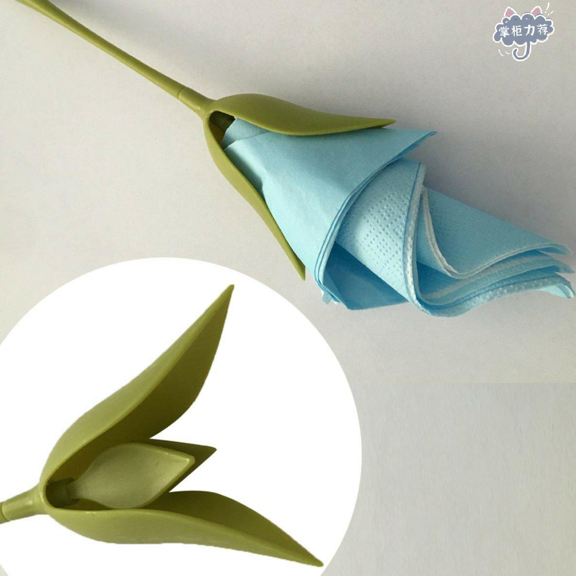 【全館免運】綻放餐巾架葉花紙巾卷餐巾紙DIY餐廳
