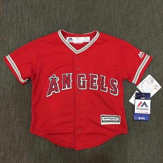 【蟹老闆】Majestic 孩童 棒球球衣 大聯盟 MLB 洛杉磯天使 Los Angeles Angels of Anaheim 27 Mike Trout YOUTH