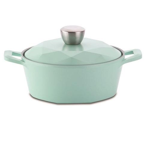【NEOFLAM】CARAT系列陶瓷不沾湯鍋(20cm_Tiffany藍_合金蓋)