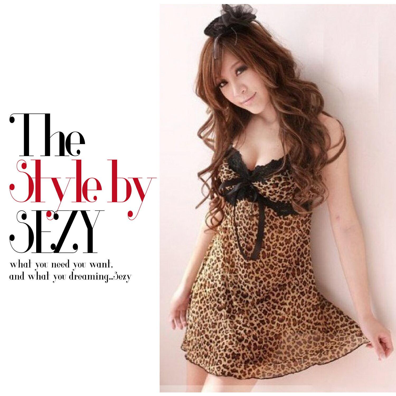 【SEZY香姬】精典豹紋性感睡裙吊帶裙