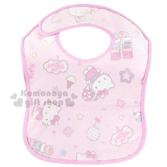 〔小禮堂嬰幼館〕 佳美 Hello Kitty EVA圍兜~粉.多動作.氣球.星星~