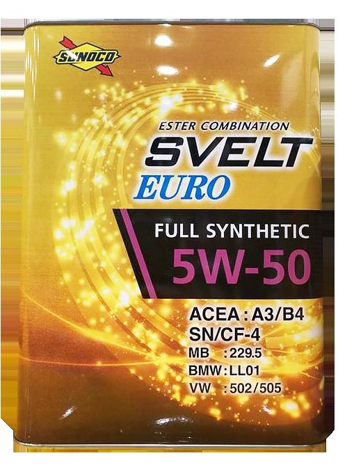 日本SUNOCO Svelt Euro 5W50 合成機油