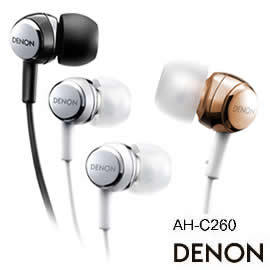 志達電子 AH-C260 DENON 耳道式耳機(公司貨) AH-C252 華麗經典延續!