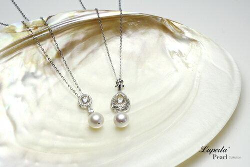 大東山珠寶 星眸 日本AKOYA天然海水珍珠純銀晶鑽項鍊 4