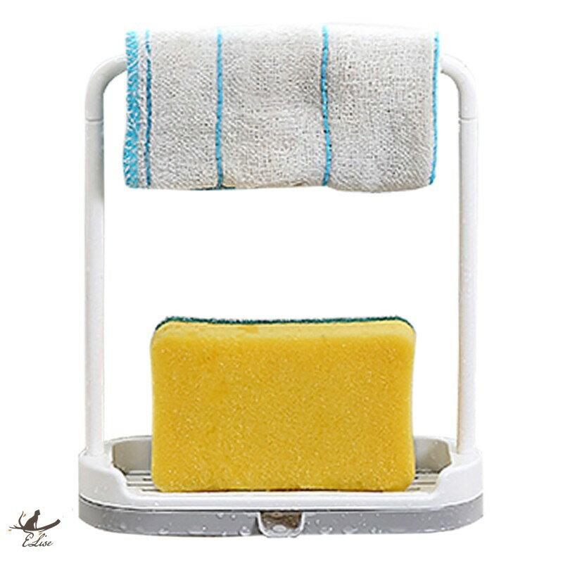 ELiseStore居家百貨 【ELise】厨房檯面收纳架 抹布洗碗布瀝水置物架