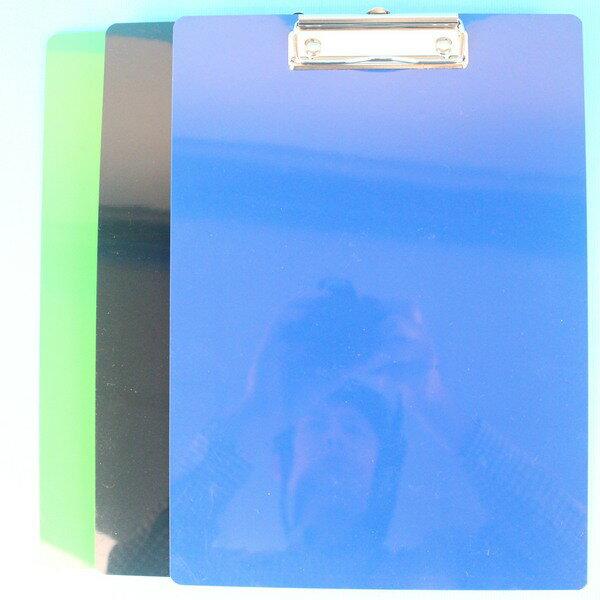 A4塑膠板夾 NO.7016CC 巴士塑膠板夾(直式.不透明)/一箱12個入{定50}~應元 MIT製32cm x 23cm