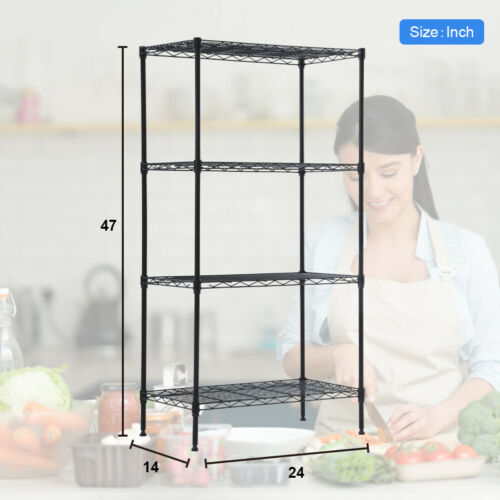 Factory Direct Wire Shelving Unit Steel Large Metal Shelf Organizer Garage Storage Shelves Heavy Duty Nsf Commercial Grade Utility Storage Metal