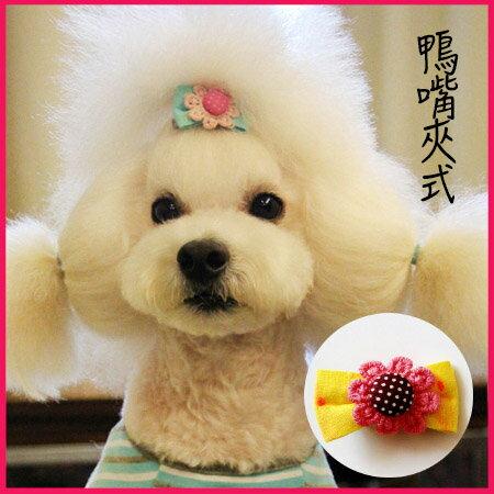 【小樂寵】太陽花蝴蝶結鴨嘴夾髮夾