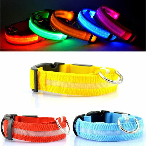 【小樂寵】四段發光 高透光網格LED項圈/XS~XL(夜間好幫手)
