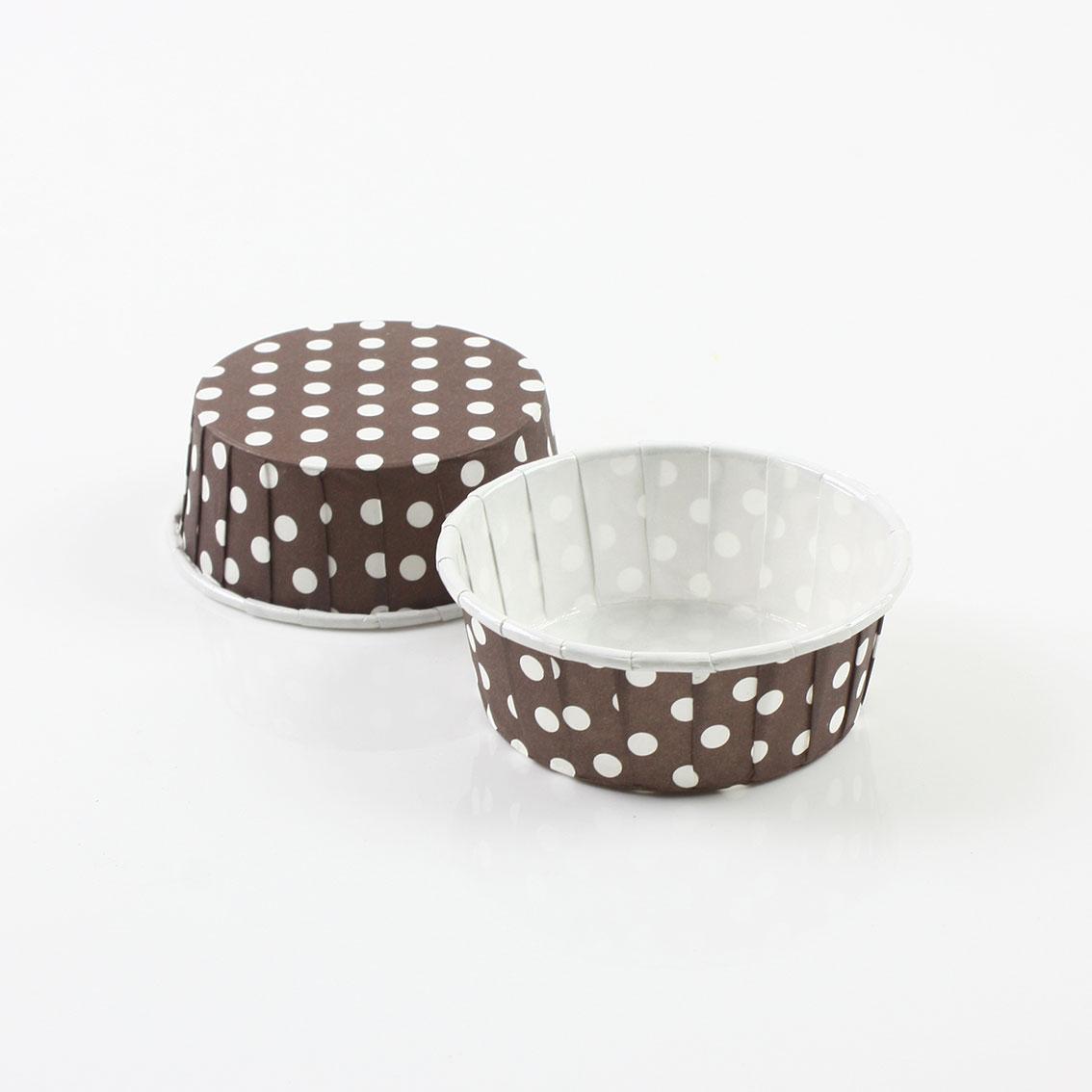 瑪芬杯、杯子蛋糕、捲口杯 PET5524-04 圓點咖啡(100pcs/包)