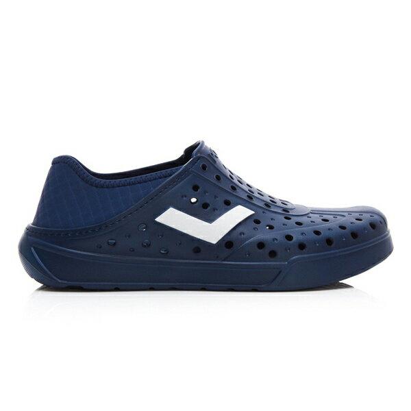《2019新款》Shoestw【92U1SA03DB】PONY Enjoy 洞洞鞋 水鞋 海灘鞋 可踩跟 懶人拖 菱格紋 全深藍 白V 男女尺寸都有 1