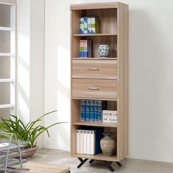 優世代居家生活館:書櫃置物櫃收納櫃《Yostyle》夏佐2尺二抽書櫃-原木色