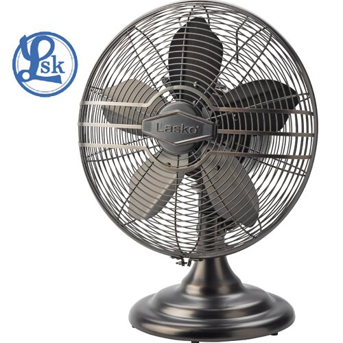 Lasko 樂司科 R12210TW 泰晤士 創新五葉片極速冷暖房 復古靜音風扇