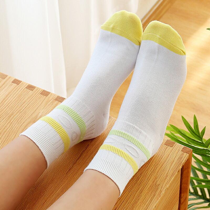 襪子女中筒襪棉襪女打底褲長襪女潮襪條紋秋季學院風秋冬可愛全棉