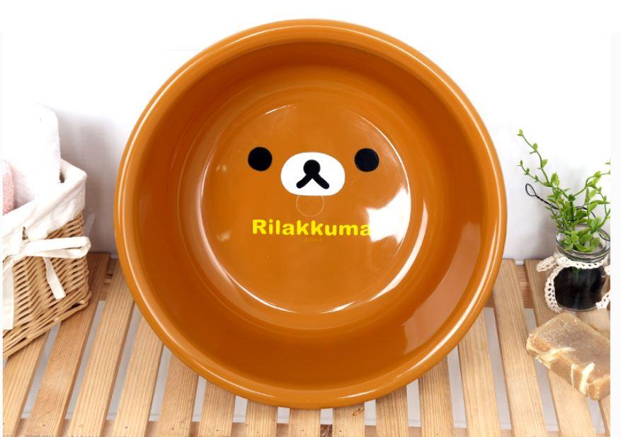X射線【C067153】懶熊Rilakkuma 臉盆-大臉 / 大,臉盆 / 盥洗用品 / 衛浴用品 / 浴室 / 泡腳盆 0