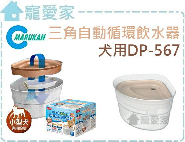 ☆寵愛家☆日本Marukan三角自動循環飲水器 DP-567愛犬專用